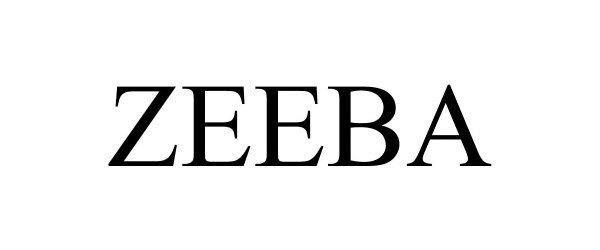 Trademark Logo ZEEBA