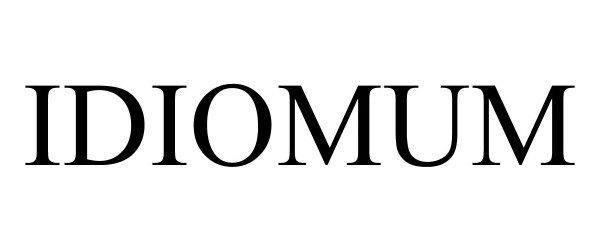 Trademark Logo IDIOMUM