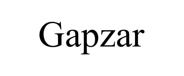 Trademark Logo GAPZAR