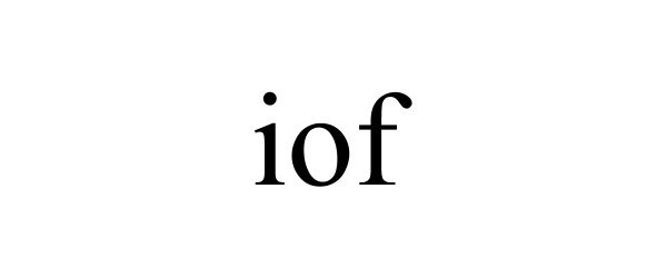 Trademark Logo IOF