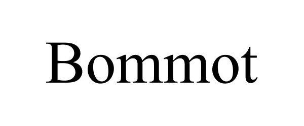 Trademark Logo BOMMOT