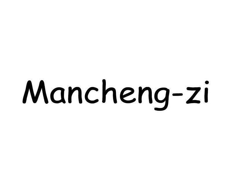 Trademark Logo MANCHENG-ZI