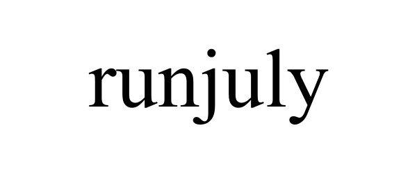 Trademark Logo RUNJULY