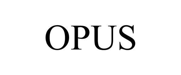 Trademark Logo OPUS