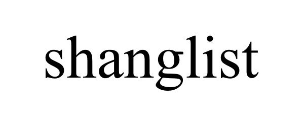 Trademark Logo SHANGLIST