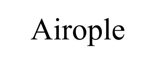 Trademark Logo AIROPLE