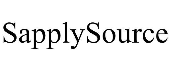 Trademark Logo SAPPLYSOURCE