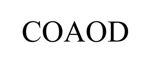 Trademark Logo COAOD