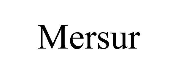 Trademark Logo MERSUR