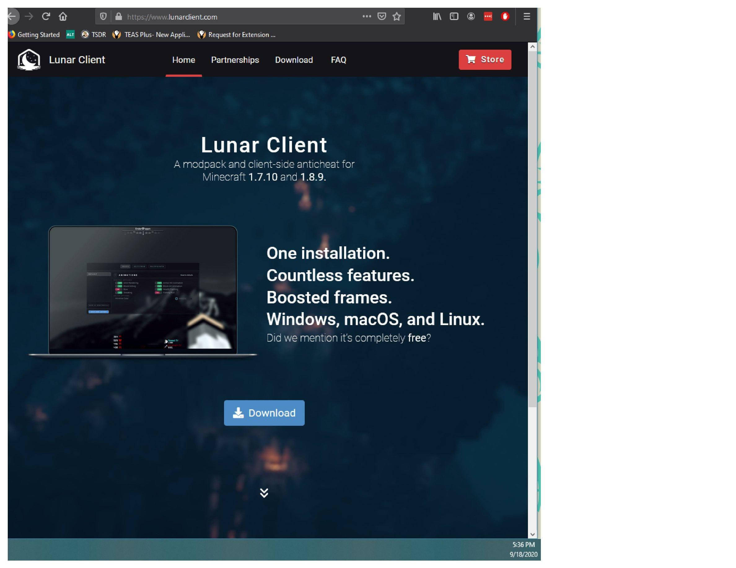 Teas Plus New Application For Lunar Client