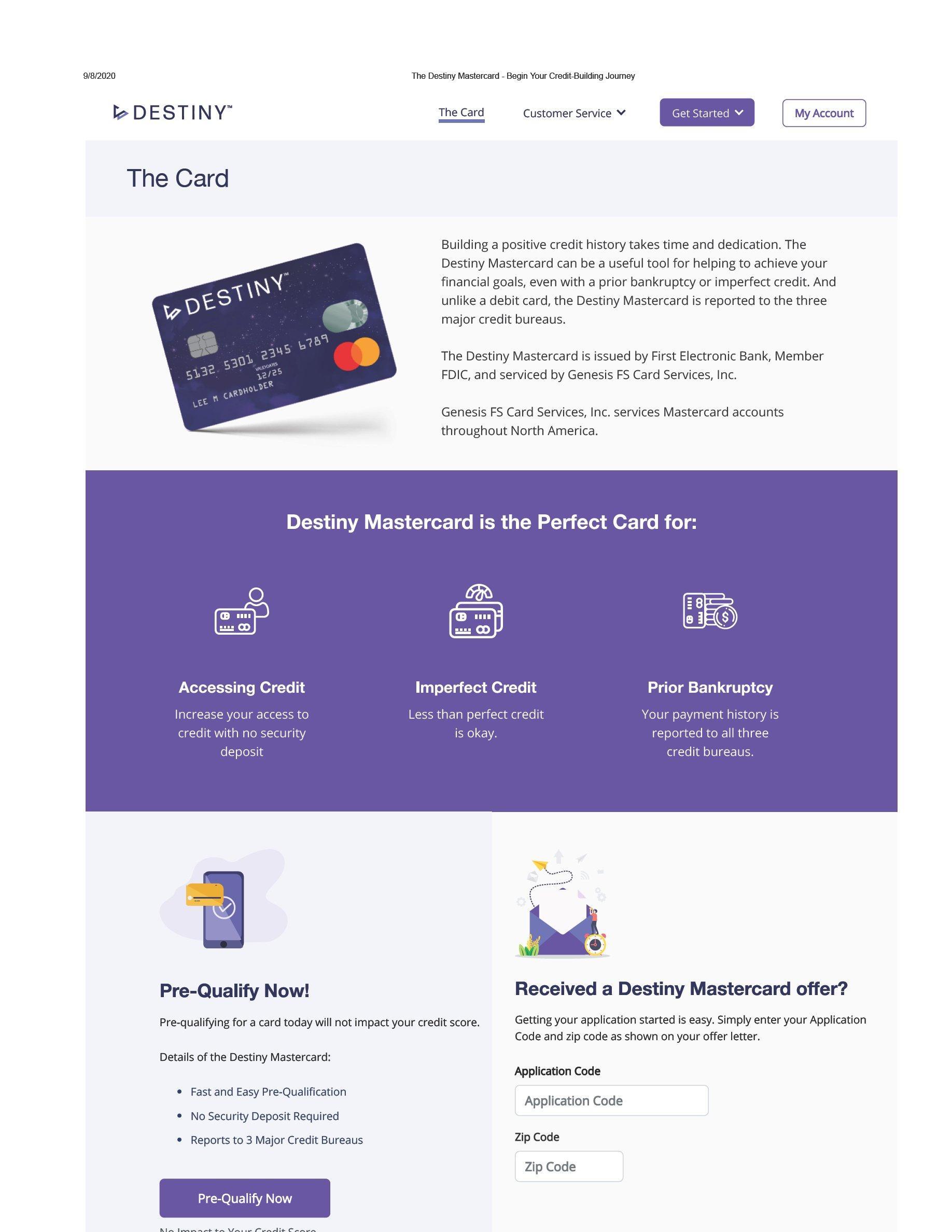 Destiny Genesis Fs Card Services Inc Trademark Registration