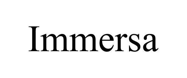 Trademark Logo IMMERSA