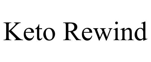 Trademark Logo KETO REWIND