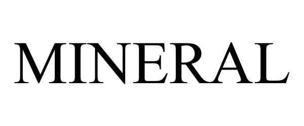 Trademark Logo MINERAL