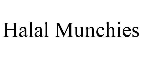 Trademark Logo HALAL MUNCHIES
