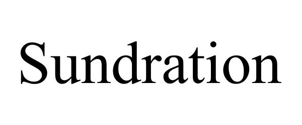 Trademark Logo SUNDRATION