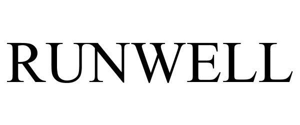 Trademark Logo RUNWELL