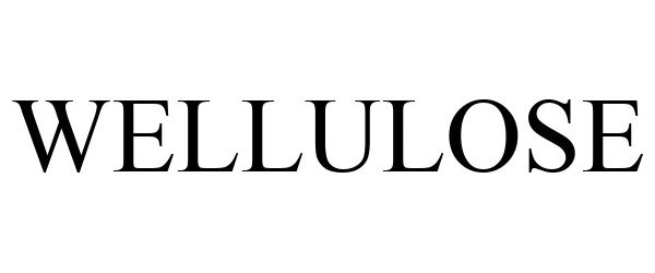 Trademark Logo WELLULOSE