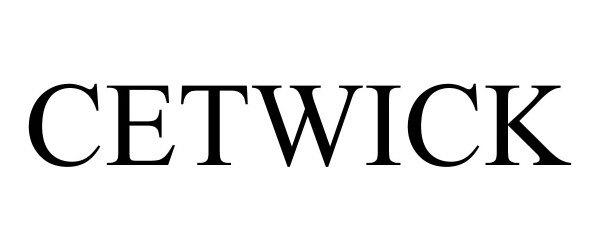 Trademark Logo CETWICK