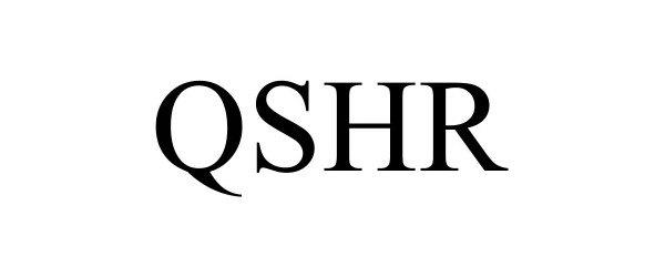 Trademark Logo QSHR