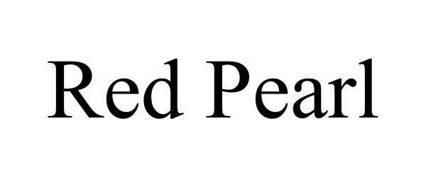 Trademark Logo RED PEARL