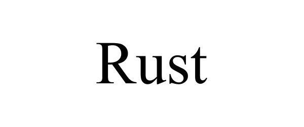 Trademark Logo RUST