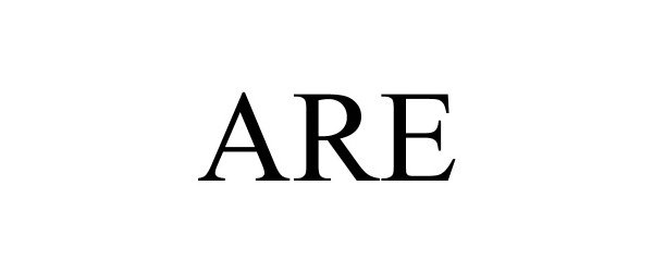 Trademark Logo ARE
