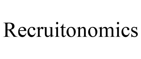 Trademark Logo RECRUITONOMICS