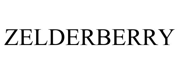 Trademark Logo ZELDERBERRY
