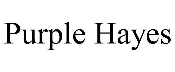 Trademark Logo PURPLE HAYES