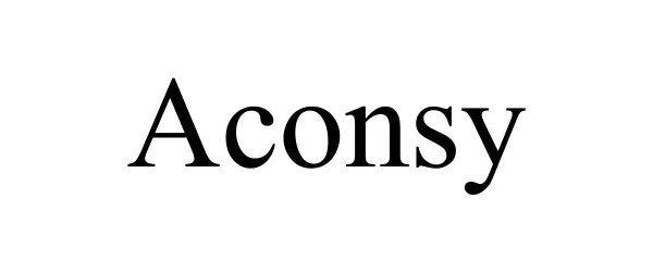 Trademark Logo ACONSY