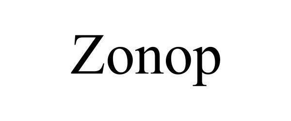 Trademark Logo ZONOP