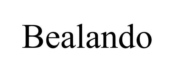Trademark Logo BEALANDO
