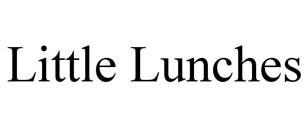 Trademark Logo LITTLE LUNCHES