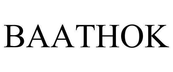 Trademark Logo BAATHOK