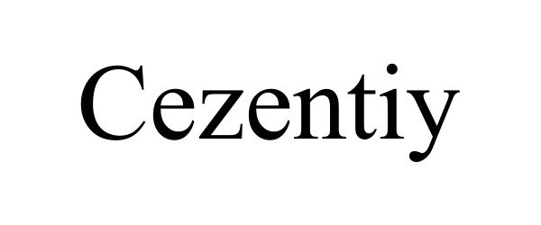 Trademark Logo CEZENTIY