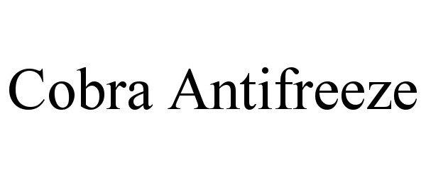 Trademark Logo COBRA ANTIFREEZE
