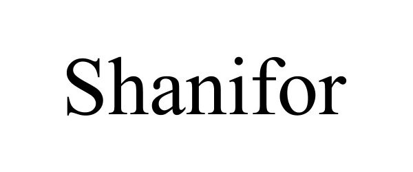 Trademark Logo SHANIFOR