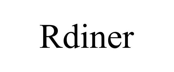 Trademark Logo RDINER