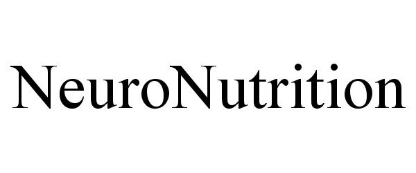 Trademark Logo NEURONUTRITION