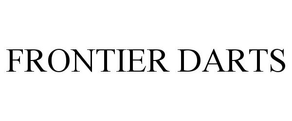 Trademark Logo FRONTIER DARTS