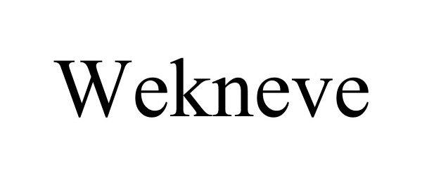 Trademark Logo WEKNEVE
