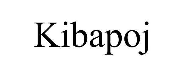 Trademark Logo KIBAPOJ