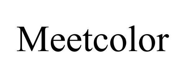 Trademark Logo MEETCOLOR