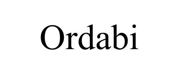 Trademark Logo ORDABI