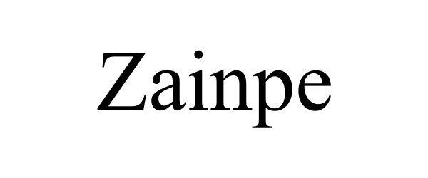 Trademark Logo ZAINPE
